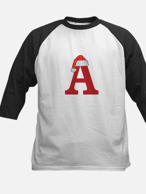 Christmas Monogram Letter A Baseball Jersey
