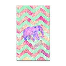 Whimsical Purple Elephant Min Rectangle Car Magnet