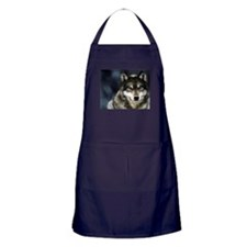Wolf with Red Eyes Apron (dark)