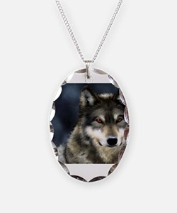 Wolf with Red Eyes Necklace