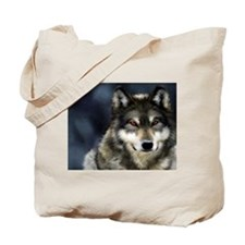 Wolf with Red Eyes Tote Bag