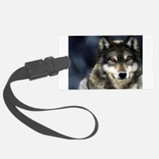Wolf with Red Eyes Luggage Tag