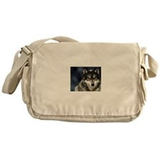 Wolf with Red Eyes Messenger Bag