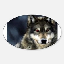 Wolf with Red Eyes Decal