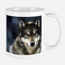 Wolf with Red Eyes Mugs