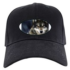 Wolf with Red Eyes Baseball Hat