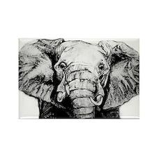 Original Art Elephant Rectangle Magnet