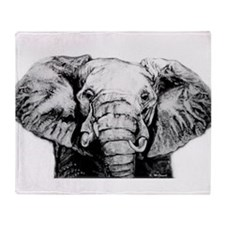 Original Art Elephant Throw Blanket