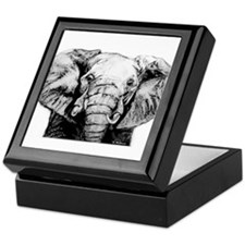 Original Art Elephant Keepsake Box