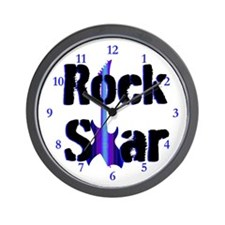ROCK STAR KING Wall Clock