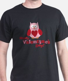 Happy Valentine's Day Owl T-Shirt