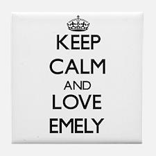 Keep Calm and Love Emely Tile Coaster