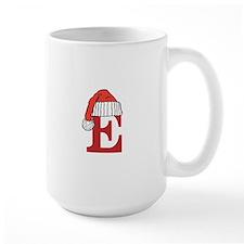 Letter E Christmas Monogram Mugs