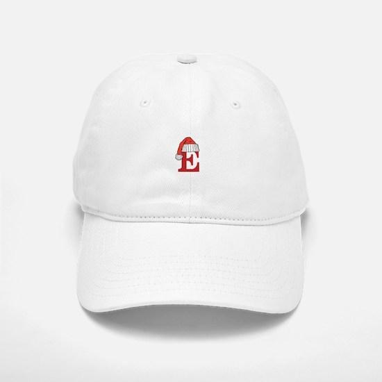 Letter E Christmas Monogram Baseball Baseball Cap