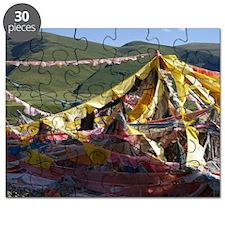 Prayer flags in Tibet Puzzle
