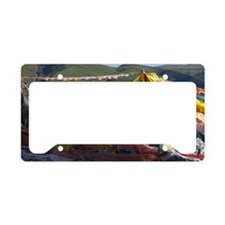 Prayer flags in Tibet License Plate Holder