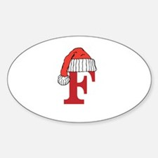 Letter F Christmas Monogram Decal