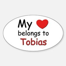 My heart belongs to tobias Oval Decal