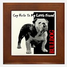little-friend3-dark Framed Tile