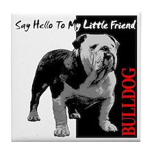 little-friend3-dark Tile Coaster