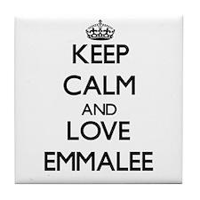 Keep Calm and Love Emmalee Tile Coaster