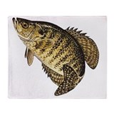Crappie fishing Fleece Blankets