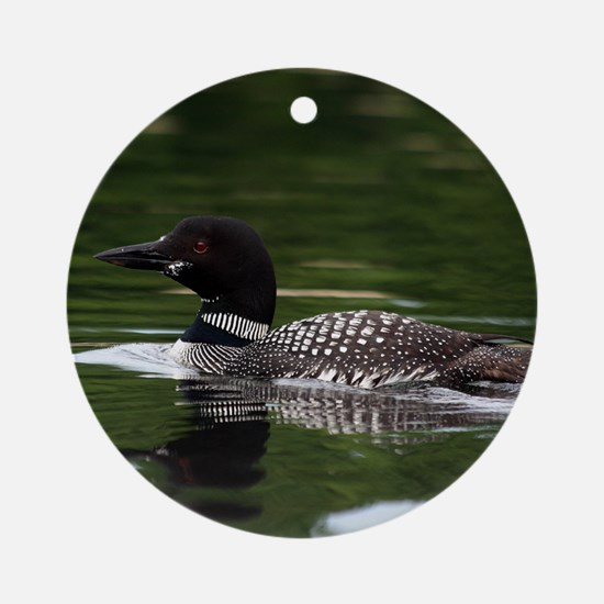 Print Loon Round Ornament