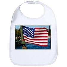 USA Flag on Riverine Boat Bib