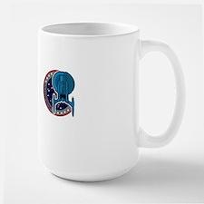 enterprise captain top copy Large Mug