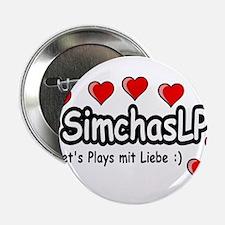 """SimchasLP Hearts / SimchasLP Herzen 2.25"""" Button"""