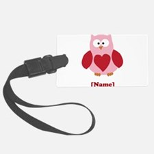 Personalized Plain Valentines Owl Luggage Tag