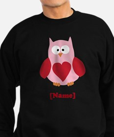 Personalized Plain Valentines Owl Sweatshirt