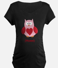 Personalized Plain Valentines Owl Maternity T-Shir
