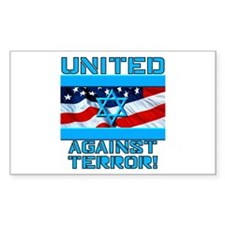United Against Terror 1 Rectangle Decal