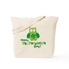 Happy St. Patrick's Day Owl Tote Bag