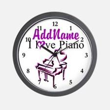 PIANO PLAYER Wall Clock