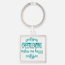 cheerleading Square Keychain