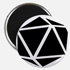 icosahedron black Magnet