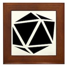 icosahedron black Framed Tile