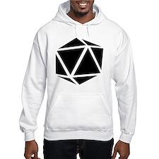 icosahedron black Hoodie