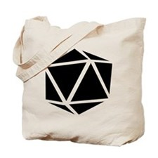 icosahedron black Tote Bag