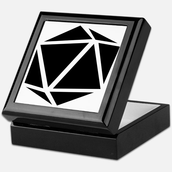 icosahedron black Keepsake Box