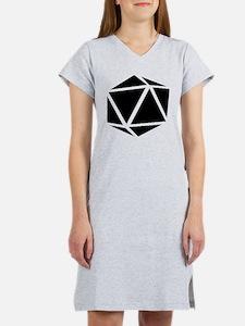 icosahedron black Women's Nightshirt
