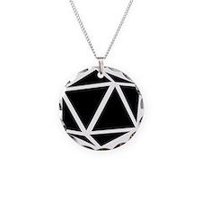 icosahedron black Necklace