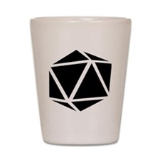 icosahedron black Shot Glass