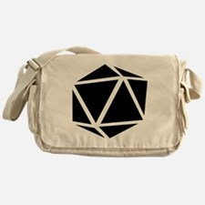 icosahedron black Messenger Bag