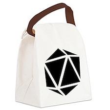 icosahedron black Canvas Lunch Bag