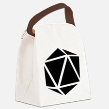 icosahedron black Canvas Lunch Bag