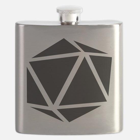 icosahedron black Flask