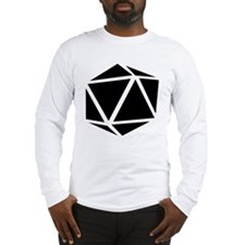 icosahedron black Long Sleeve T-Shirt